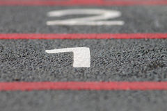 Number 1 starting line Royalty Free Stock Photos