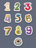 Number stickers. Illustration of number stickers on white Stock Photo