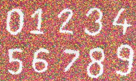 Number from stone Stock Photography