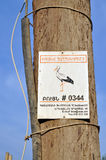 Number stork's nest on a pole in Armenia Stock Photo
