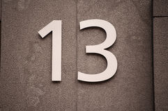 Number 13 Royalty Free Stock Images