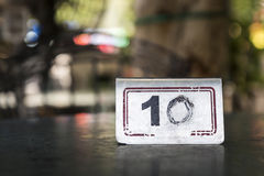 Number on table Royalty Free Stock Images