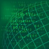 Number tech  background Royalty Free Stock Photography