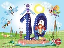Number ten Royalty Free Stock Image
