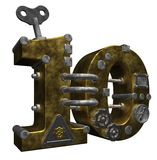 Number ten. Steampunk number ten on white background - 3d illustration Stock Photos