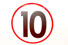 Number ten Royalty Free Stock Photo