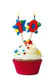 Number ten cupcake stock photo