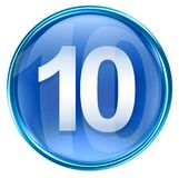 Number ten icon blue. Number ten icon blue, isolated on white background Royalty Free Stock Images