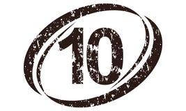 Number Ten Rough Logo. Logo Design Template Vector Stock Photo