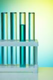 A number of test tubes Stock Images