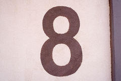 Number 8 texture Royalty Free Stock Photography