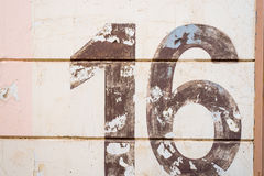 Number 16 texture Royalty Free Stock Images