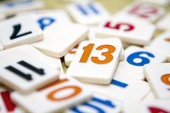 Number thirteen Stock Images