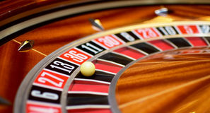 Number thirteen roulette Royalty Free Stock Image