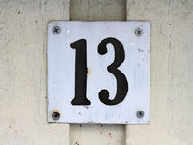 Number thirteen sign Stock Photography