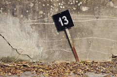 Number thirteen sign Royalty Free Stock Photography