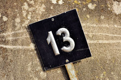 Number thirteen sign Stock Photo