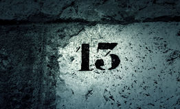 Number thirteen wall Royalty Free Stock Images