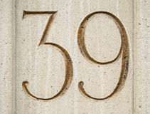 Number thirty nine Royalty Free Stock Photo