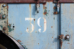 Number 39 Stock Photo