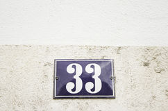 Number thirty three home Stock Image