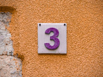 Number three (11) Stock Photo