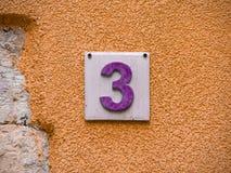 Number three (11) stock photo
