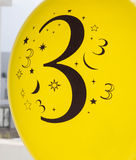 Number three is printed in black Royalty Free Stock Photography