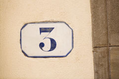 Number Three royalty free stock photo
