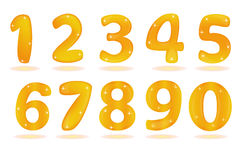 Number from 0 to 9 isolated in white background. Stock Photos