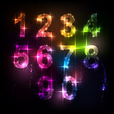 Number from 0 to 9 Stock Photo