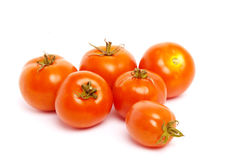 A number of tomatoes. Stock Photography
