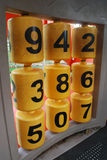 Number on toy for kids Royalty Free Stock Photo