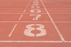 Number on track Royalty Free Stock Photo