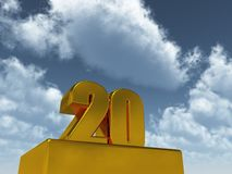 Number twenty Stock Image