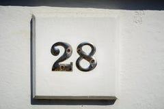 Number twenty eight Royalty Free Stock Photography