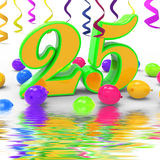 Number Twenty Five Party Displays Creativity And Colourful Innov Royalty Free Stock Image
