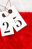 Number Twenty five on tags Stock Photo