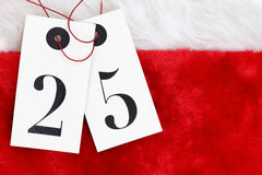 Number Twenty five on tags Royalty Free Stock Photo