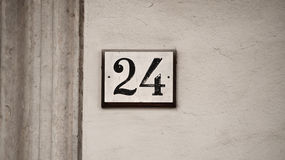 Number twenty-four Royalty Free Stock Photo