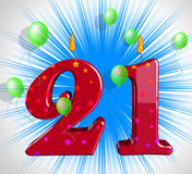 Number Twenty One Party Mean Adult Celebration Or Party Royalty Free Stock Image