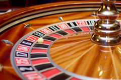 Number twenty seven roulette. Number twenty seven at the roulette wheel in casino close up details Stock Image