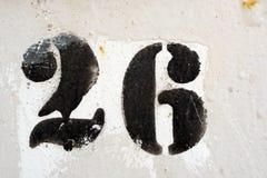 Number twenty six 26 Royalty Free Stock Photography