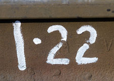 Number twenty two on the metall plate Stock Photography