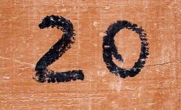 Number twenty wood Royalty Free Stock Photography