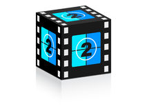 Number two. Film strip on box  illustration Stock Photography