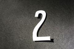 Number two on the black background. Number two on  the black background Stock Images