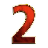 Number two in fiery red Royalty Free Stock Photos