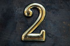 Number Two Lettering Royalty Free Stock Image