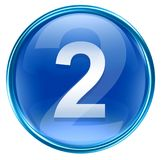 Number two icon blue. Number two icon blue, isolated on white background Stock Images